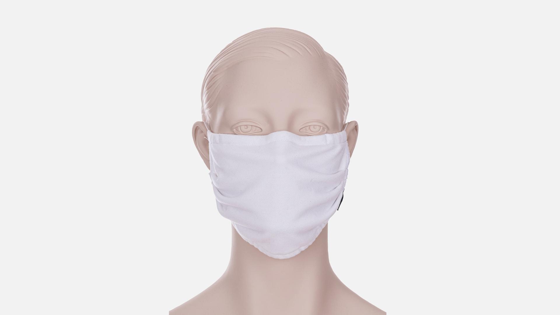 Zubehör: Trigema Wiederverwendbare Behelfs-, Mund- und Nasenmaske mit Gummi, weiss