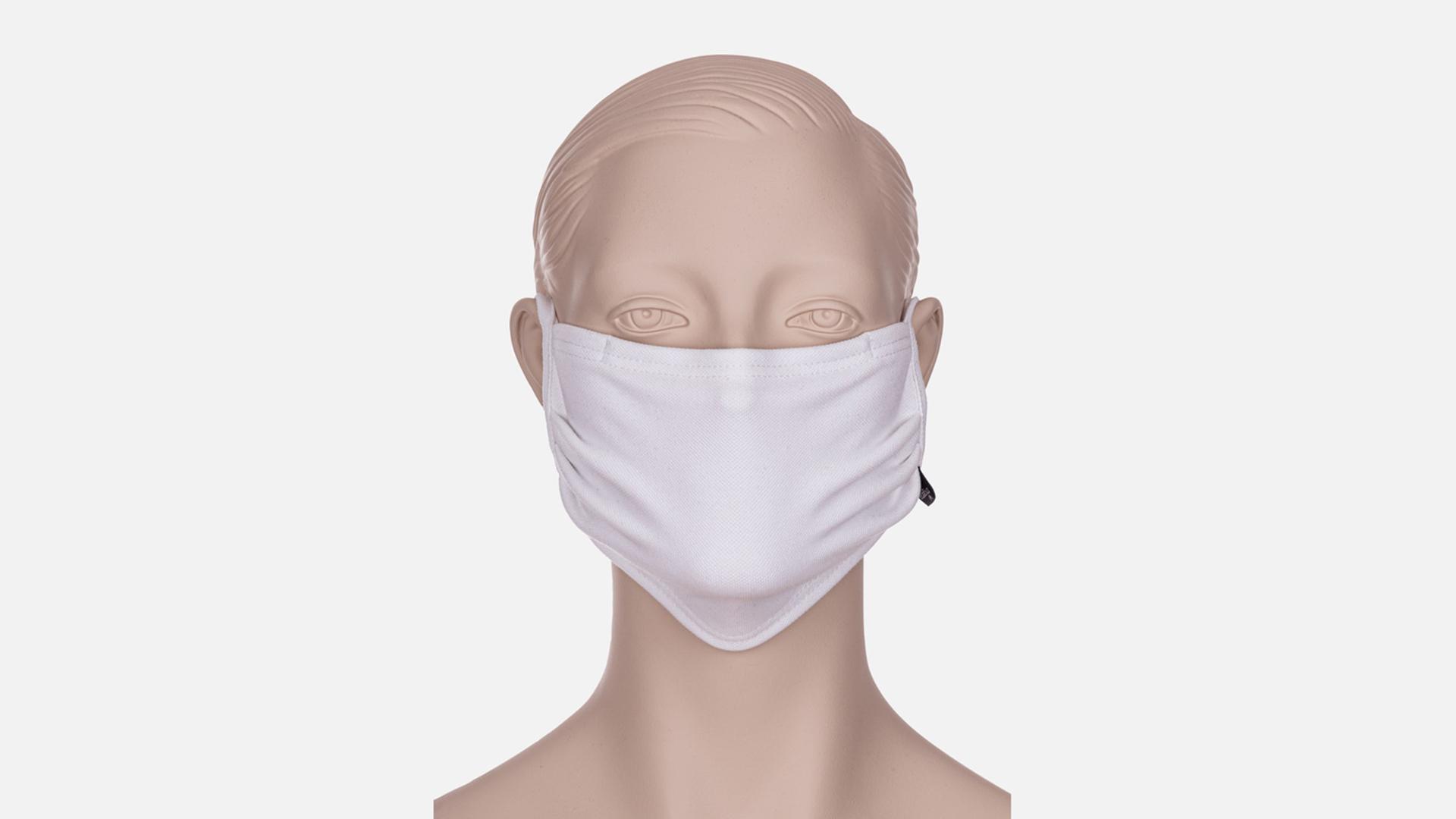 Zubehör: Trigema Wiederverwendbare Behelfs-, Mund- und Nasenmaske zum Binden, weiss